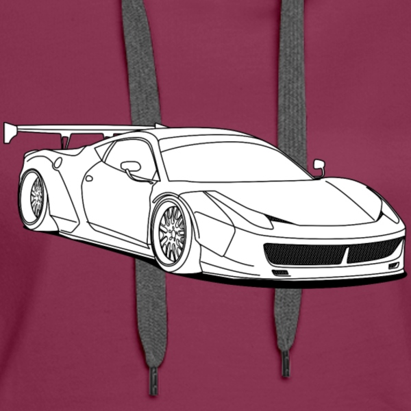 custom car white Sweat-shirts - Sweat-shirt à capuche Premium pour femmes