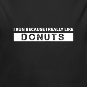 I run because i really like Donuts Baby body - Baby bio-rompertje met lange mouwen