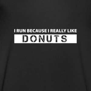 I run because i really like Donuts Tee shirts - T-shirt Homme col V