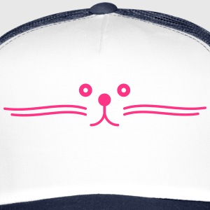 moustache de chat happy Casquettes et bonnets - Trucker Cap