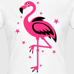 Flamingo Pink Magic Exsotic Bird Star Sterne T-Sh - Frauen T-Shirt