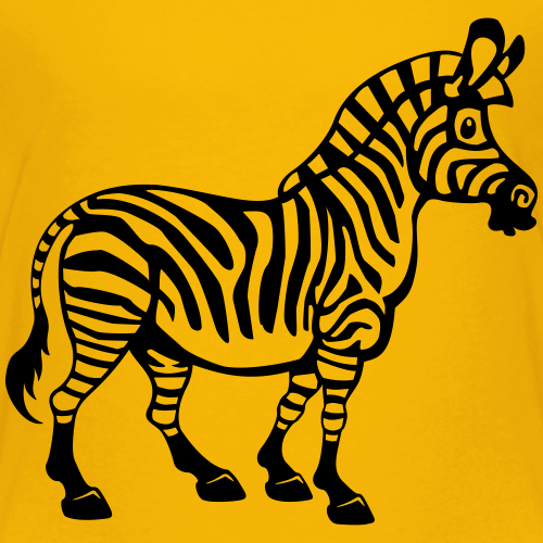 Cartoon Zebra - einfarbig