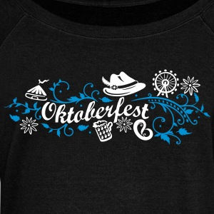 Oktoberfest decoration with traditional elements Hoodies & Sweatshirts - Women's Boat Neck Long Sleeve Top