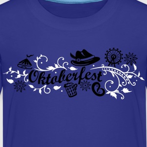 Oktoberfest decoration with traditional elements Shirts - Kids' Premium T-Shirt