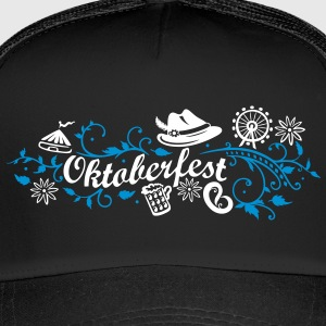 Oktoberfest decoration with traditional elements Caps & Hats - Trucker Cap