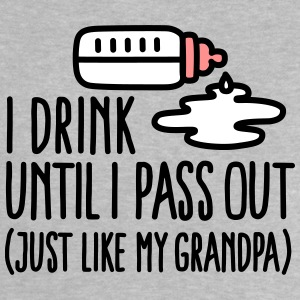 I drink until I pass out just like my grandpa Babyskjorter - Baby-T-skjorte