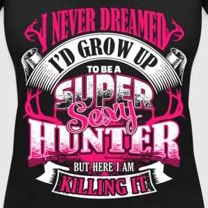 Super Sexy Hunter - EN T-shirts - Vrouwen T-shirt met V-hals