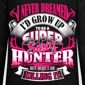 Super Sexy Hunter - EN Long Sleeve Shirts - Teenagers' Premium Longsleeve Shirt