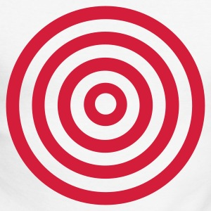 White/red target Long sleeve shirts - Men's Long Sleeve Baseball T-Shirt