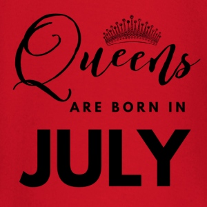 Queens are born in july shirt design baby shirts met lange mouwen - T-shirt
