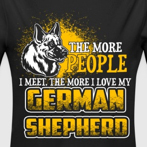 The More People I Meet - German Shepherd - EN Babybody - Økologisk langermet baby-body
