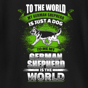 To Me My German Shepherd Is The World - EN Langermede T-skjorter for babyer - Langarmet baby-T-skjorte