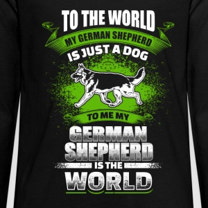 To Me My German Shepherd Is The World - EN Pitkähihaiset - Teinien premium pitkähihainen t-paita