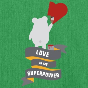 Love is my Superpower S3734 Bags & Backpacks - Shoulder Bag made from recycled material