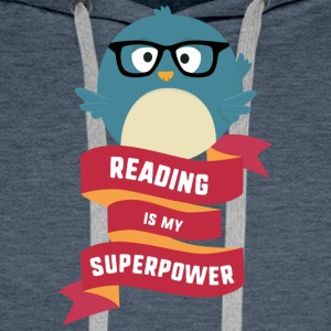 Reading is my Superpower S2g6d Hoodies & Sweatshirts - Men's Premium Hoodie