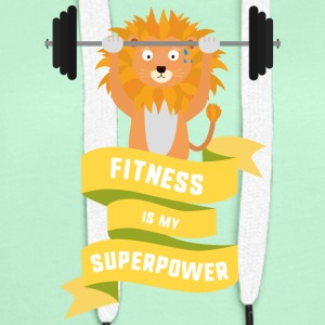 Fitness is my Superpower Shdub Hoodies & Sweatshirts - Women's Premium Hoodie