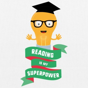 Reading is my Superpower S778b Bags & Backpacks - EarthPositive Tote Bag