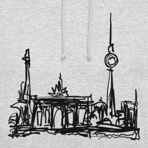 TV Tower, Berlin, Brandenburg Gate, drawing Hoodies & Sweatshirts - Unisex Hoodie