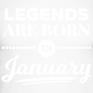 legends are born in january Januar Geburtstag  Shirts met lange mouwen - Mannen baseballshirt lange mouw