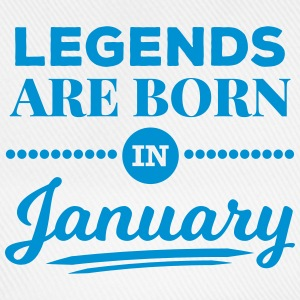 legends are born in january Januar Geburtstag  Caps & Mützen - Baseballkappe