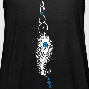 Feather, peacock feather, indian style, jewelry - Women's Tank Top by Bella