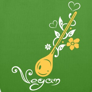 Healthy cooking, cooking spoon with flowers - EarthPositive Tote Bag