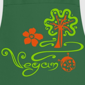 Healthy and vegan cooking, tree, ladybug - Cooking Apron