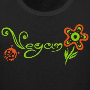 Healthy and vegan cooking, flower with ladybug. - Men's Premium Tank Top