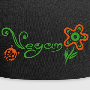 Healthy and vegan cooking, flower with ladybug. - Jersey Beanie