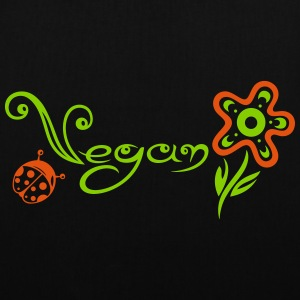 Healthy and vegan cooking, flower with ladybug. - Tote Bag