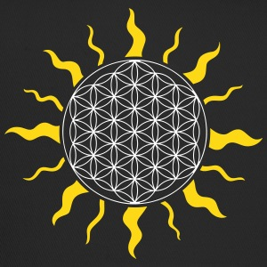 The flower of life with sun, sunbeams  - Trucker Cap