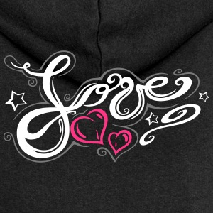 Love logo, Tribal and Tattoo style  - Women's Premium Hooded Jacket