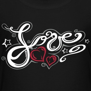Love logo, Tribal and Tattoo style  - Teenage Premium T-Shirt