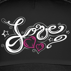 Love logo, Tribal and Tattoo style  - Trucker Cap
