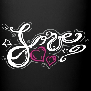 Love logo, Tribal and Tattoo style  - Full Colour Mug