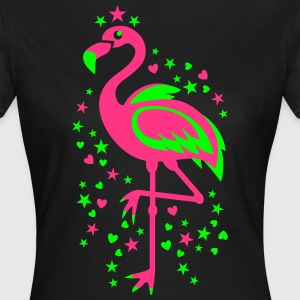 Flamingo Pink Magic Exsotic Bird Sterne T-Shirt - Frauen T-Shirt