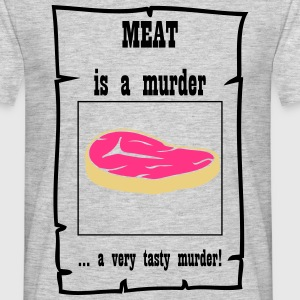 Meat is murder - Männer T-Shirt