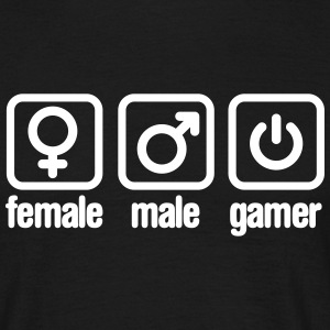 Female - Male - Gamer T-shirts - T-shirt herr