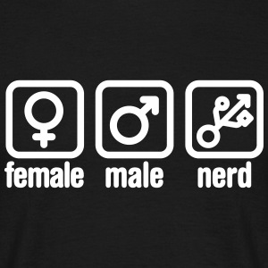 Female - Male - Nerd T-Shirts - Männer T-Shirt