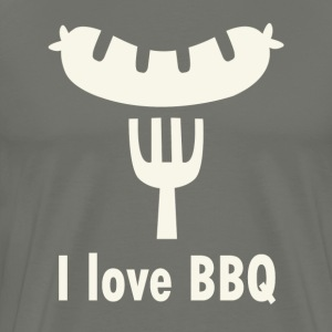 I love Barbecue - Männer Premium T-Shirt