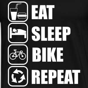 eat,sleep,bike,repeat, vélo, tee shirt cyclisme  - T-shirt Premium Homme