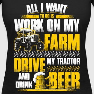 All I want to do - Farmer - EN Tee shirts - T-shirt col V Femme