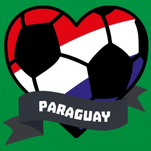 Paraguay Soccer Heart S7ely Bags & Backpacks - Tote Bag