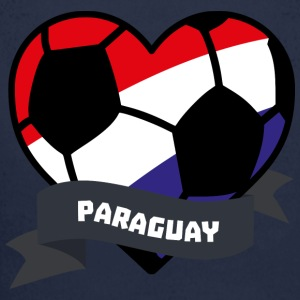 Paraguay Fußball-Herz-S7ely Baby Bodys - Baby Bio-Langarm-Body