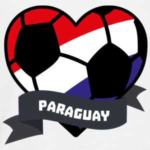 Paraguay Soccer Heart S7ely Long Sleeve Shirts - Teenagers' Premium Longsleeve Shirt