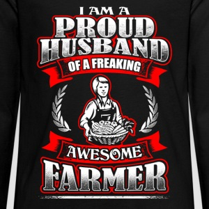 Proud Husband - Farmer - EN Long Sleeve Shirts - Teenagers' Premium Longsleeve Shirt