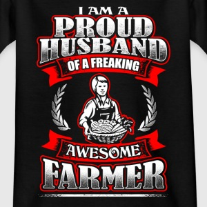 Proud Husband - Farmer - EN T-shirts - Teenager-T-shirt