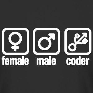 Female - Male - Coder T-skjorter - Urban lang T-skjorte for menn