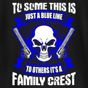 Family Crest - Blue Line - EN Tee shirts manches longues Bébés - T-shirt manches longues Bébé