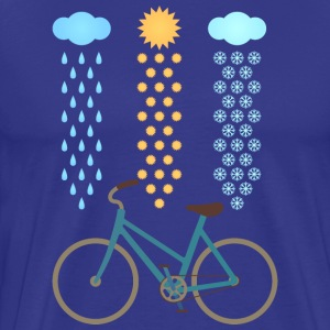 Bicycle All Weather Cyclist T-Shirts - Männer Premium T-Shirt